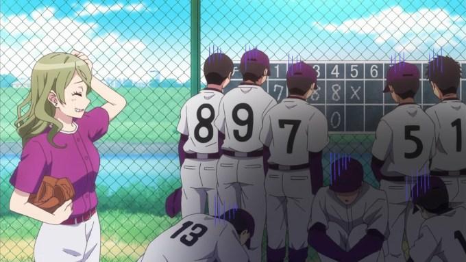 野球部の助っ人をする青山エリカ