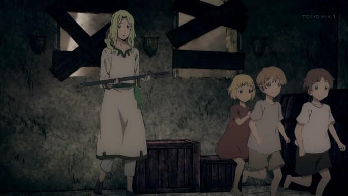 スオウに剣を届ける子供