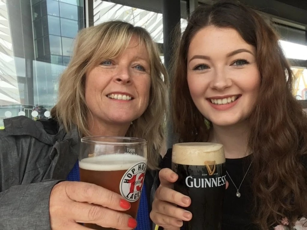 Drinking Guinness in Belfast, Northern Ireland in May 2019