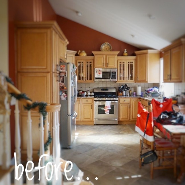 *before* picture of a Kitchen renovation