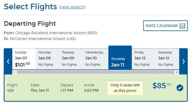 Allegiant Price Chicago to Las Vegas Cheap Airlines