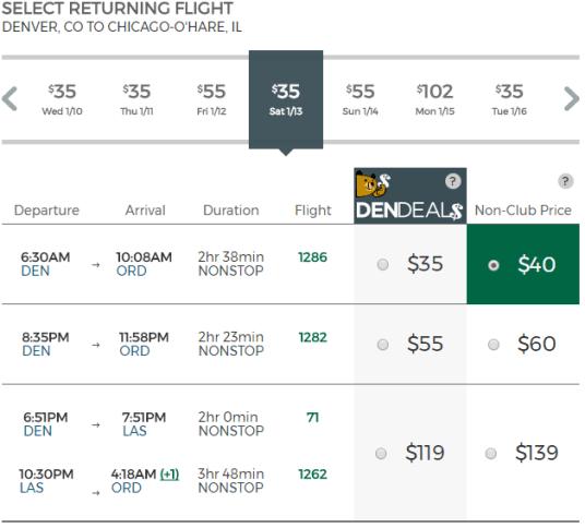 Frontier Airlines Return Flight Price