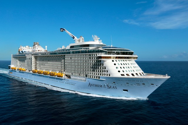 best cruise lines: royal carribean cruise ship, anthem of the seas