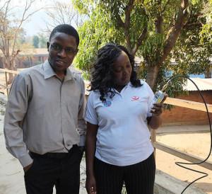 Tryness Kantedza (MACRA) and Chomora Mikeka (U of Malawi)