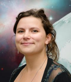 Hannah Wakeford, a research fellow at Goddard specializing in the atmospheres of hot Jupiters.