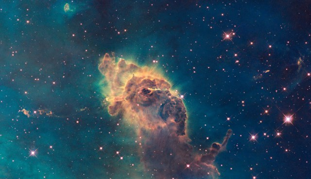The Carina Nebula, one of many regions where stars come together and planets later form made out of the surrounding dust, gas and later rock. (NASA, ESA, and the Hubble SM4 ERO Team)