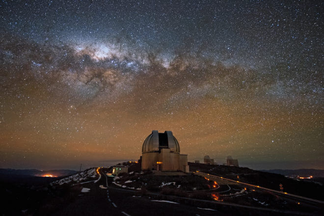 """The European Southern Observatory's La Silla facility in Chile. The """"Pale Red Dot"""" campaign used previous data collected at La Silla, and updated with new observations there this year. (ESO)"""