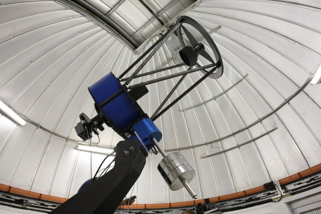 The 60cm telescope is devoted to the detection and characterization of planets located outside our Solar System and to the study of comets and other small bodies in our solar system. (Trappist/ESO)