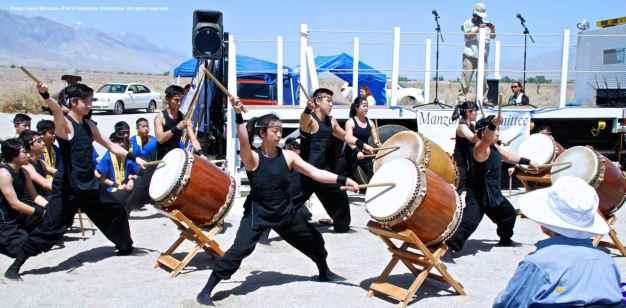 "UCLA Kyodo Taiko opens the 44th Annual Manzanar Pilgrimage with ""Matsuri."""
