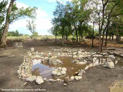 Upper pond at Merritt Park filled with silt