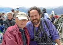 Former Manzanar and Heart Mountain incarceree Jack Kunitomi (left) with photographer Mark Kirchner (right).