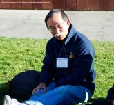 Andy Noguchi, Co-President, Florin JACL, shown here during one of the small group discussions during the 2015 Manzanar At Dusk program.