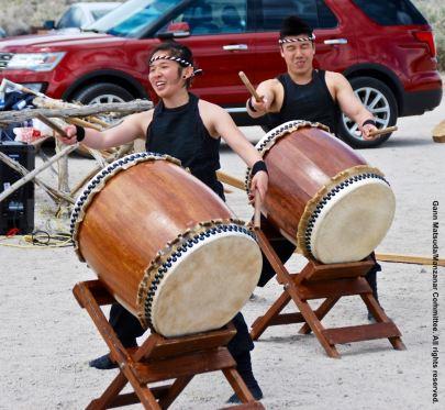UCLA Kyodo Taiko opened the 47th Annual Manzanar Pilgrimage.