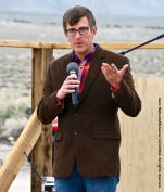 Jeff Griffiths, Chair, Inyo County Board of Supervisors, shown here addressing the crowd during the 47th Annual Manzanar Pilgrimage.