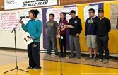 Members of the Nikkei Student Unions from Cal Poly Pomona, CSULB, UCLA and UCSD presented excerpts from oral histories from former Japanese American World War II incarcerees at the 2016 Manzanar At Dusk program.