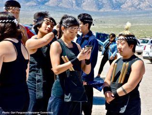 UCLA Kyodo Taiko prepares for their performance