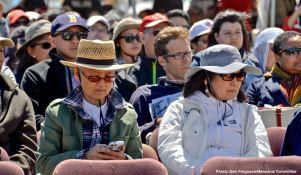 Crowd shot during the Pilgrimage program