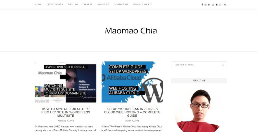 maomao wordpress tutorial blog