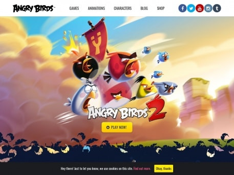 2018 best wordpress sites angry birds