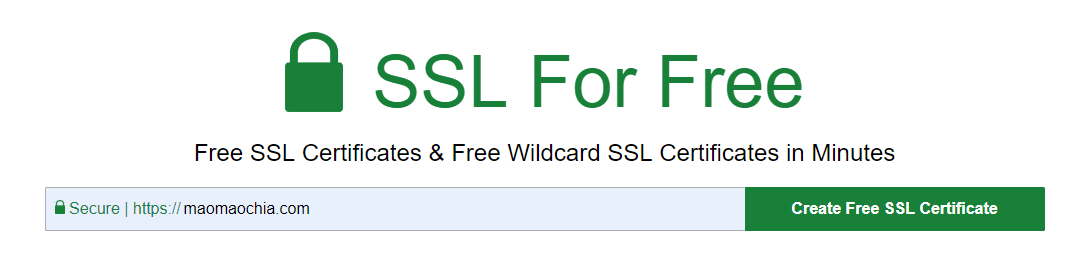 Go to SSL For Free