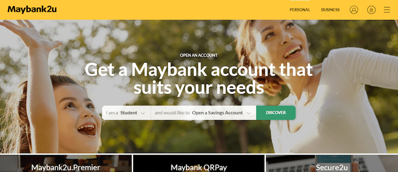 Open Your Maybank Account Before You Register for Maybank2U Online