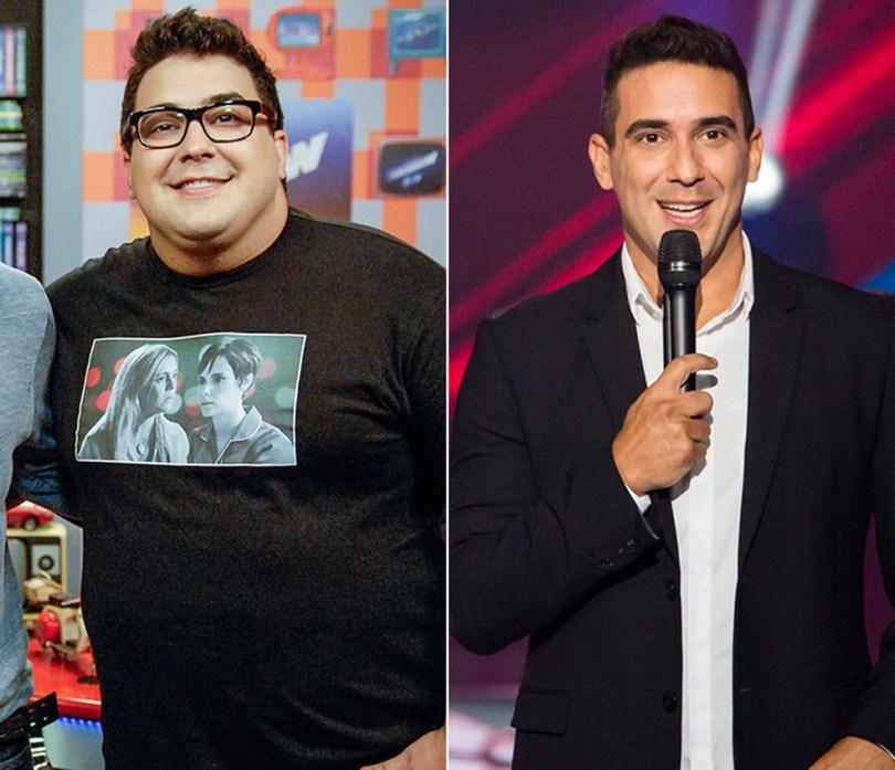 Antes e depois de André Marques — Foto: TV Globo