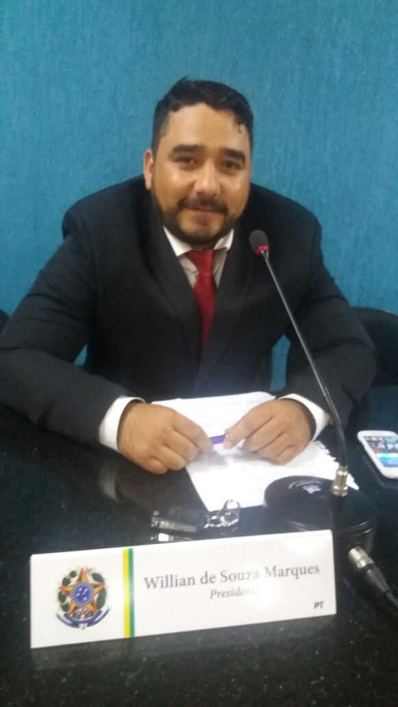 Presidente da Câmara, vereador Willian Marques.