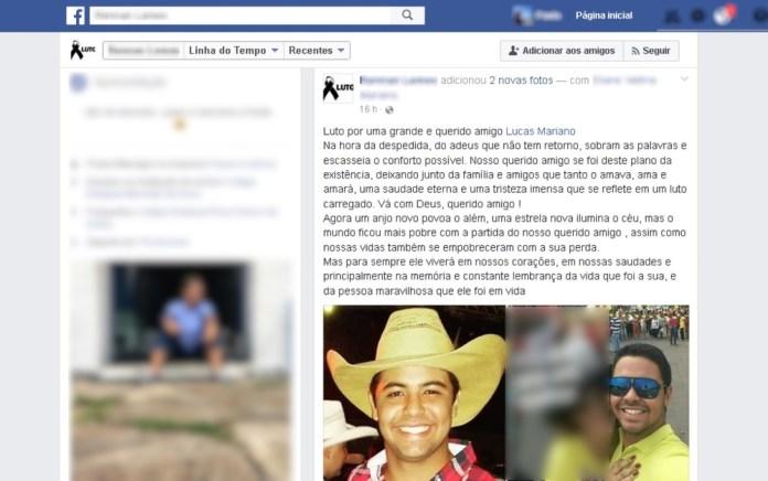 Amigo publica homenagem a estudante da UFG que morreu em acidente (Foto: Reprodução/ Facebook) Acidente