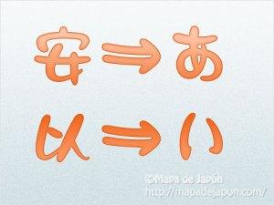 hiragana mapa de japon