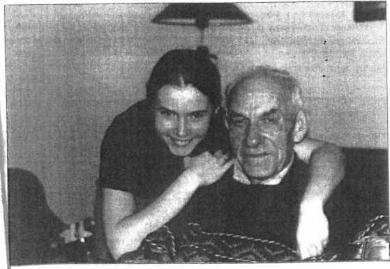 Antoni Horanin z wnuczką