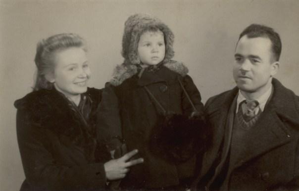 Leontyna, Paweł Żarscy z córką Janiną - rok 1947