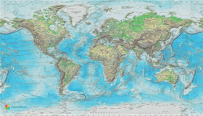 Planisferio Con Nombres En Espanol Del Mundo