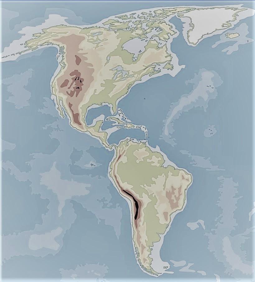 Norte Blanco Del Politico En America Mapa