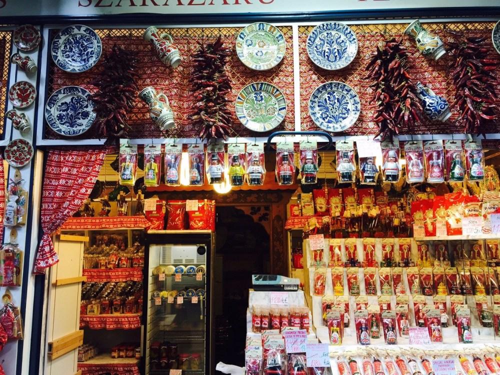 Lots of paprika stalls!