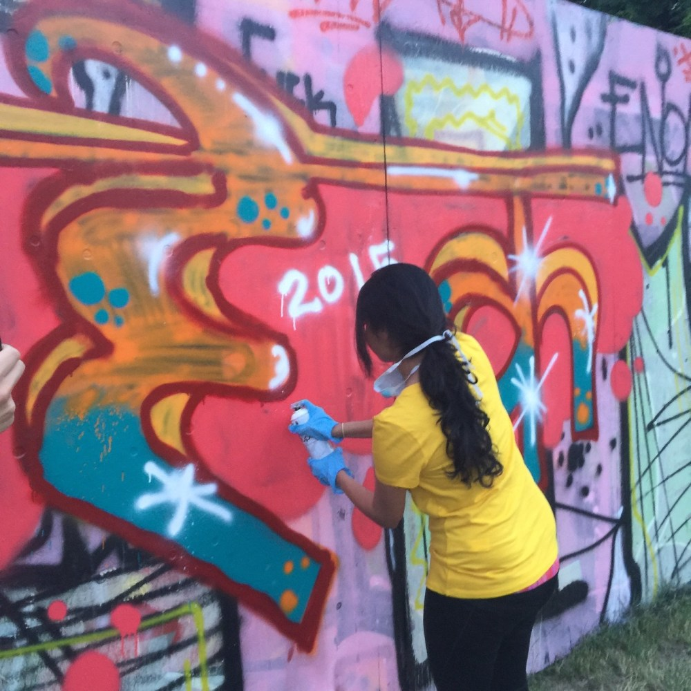 Offbeat Prague: Creating graffiti as part of a workshop