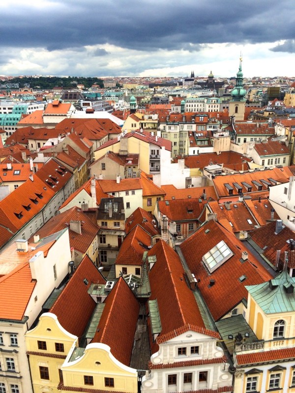 Offbeat Prague: Red roof view from Astronomical Clock