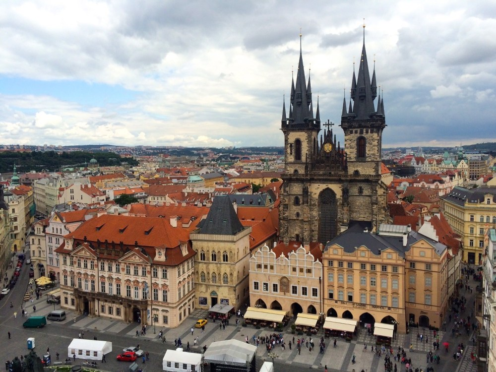 Offbeat Prague: Tyn Church from Astronomical Clock