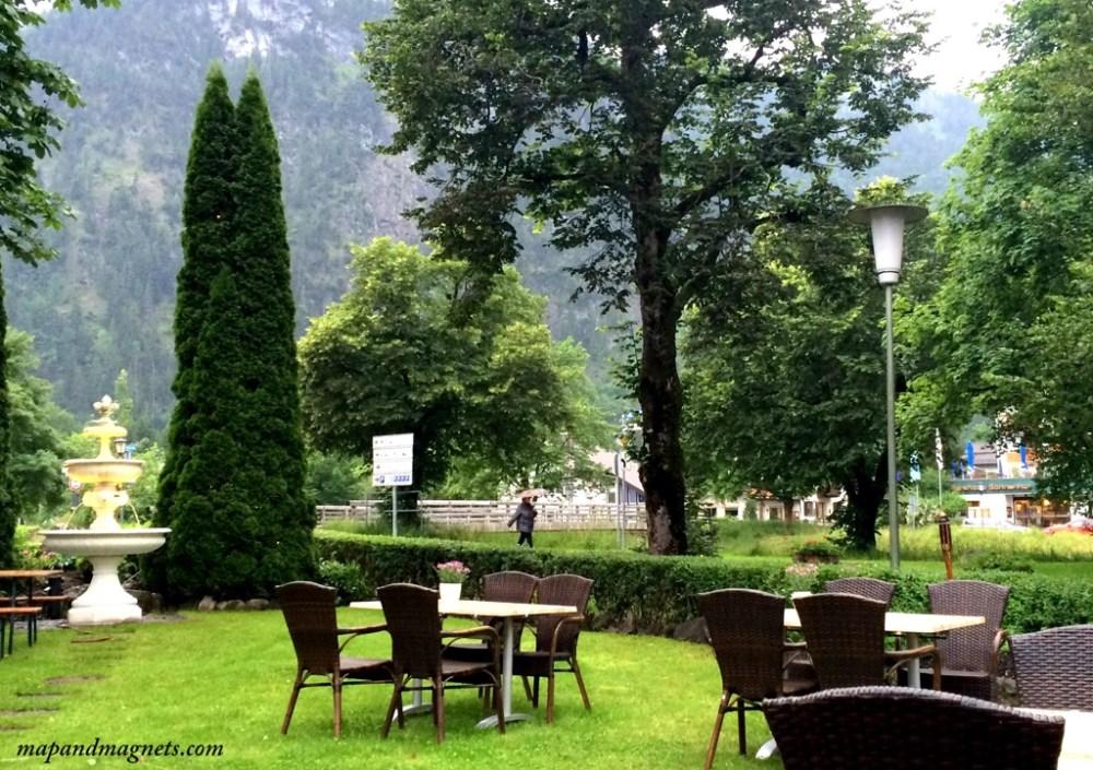 Small town of Oberammergau near Neuschwanstein Castle