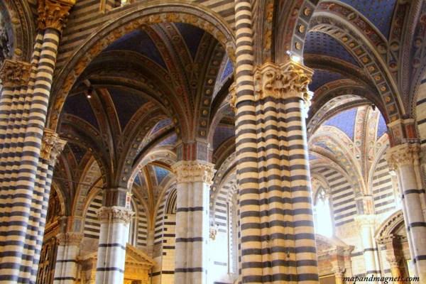 Interiors of Siena Duomo
