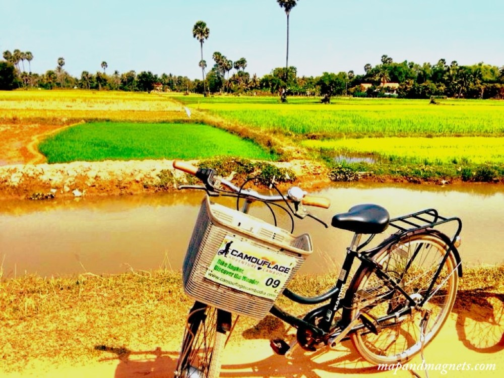 Cycling in Cambodian countryside
