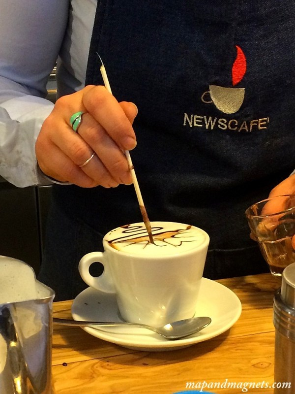 News Cafe latte art in Florence