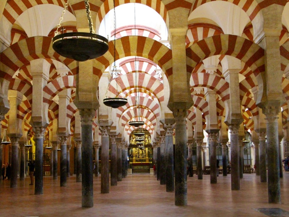 Mezquita of Cordoba is famous for its arches