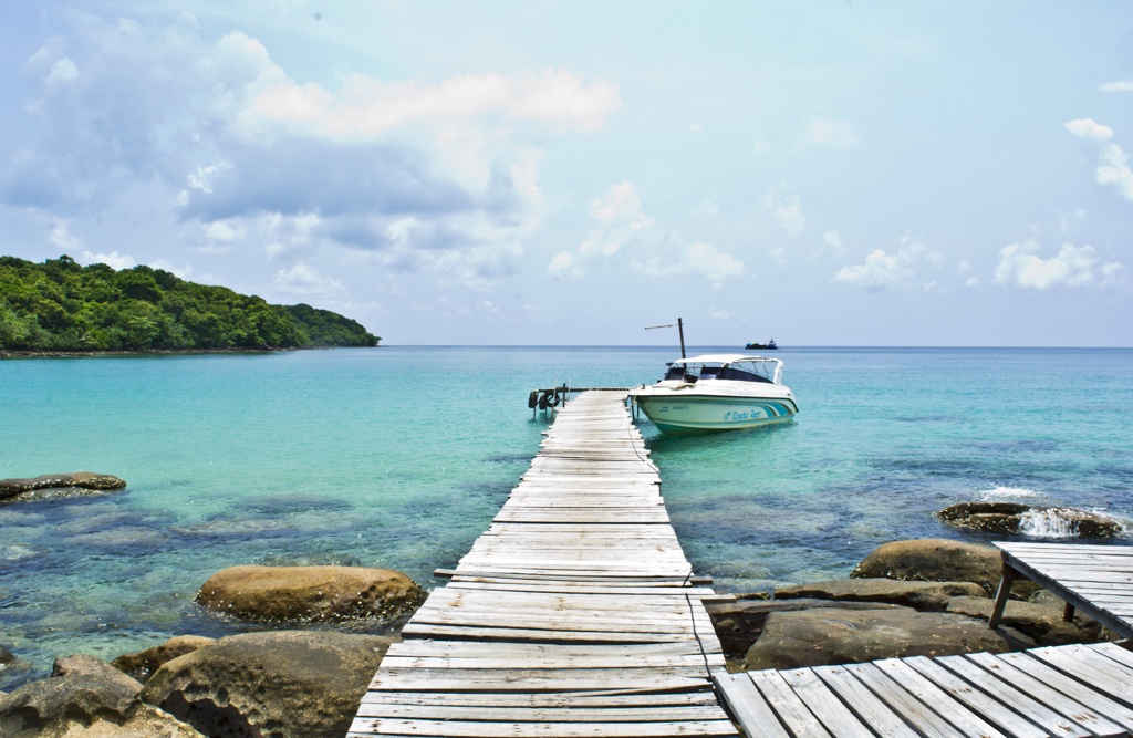 A Na Lay resort pier in Koh Kood island in Thailand