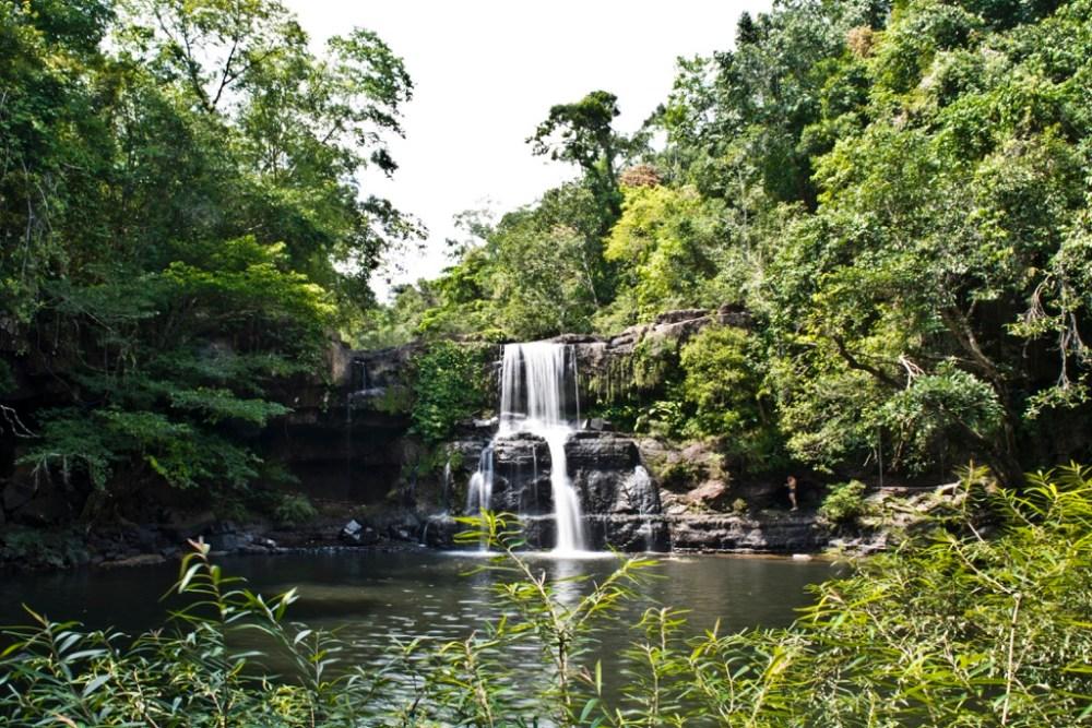Klong Chao Waterfall in Koh Kood island Thailand