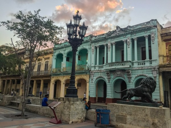 Havana colorful buildings