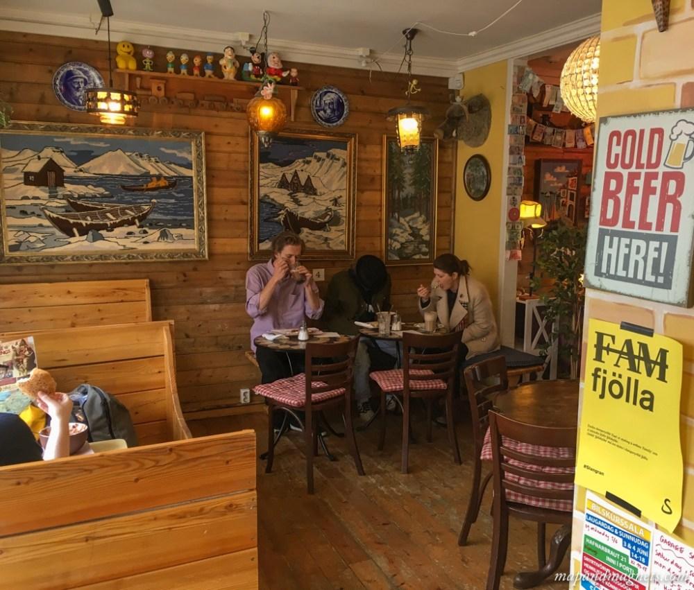 Interiors of Cafe Babalu Reykjavik