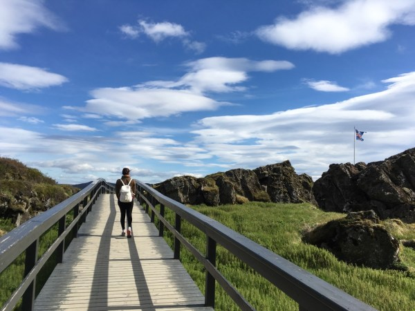 Site of first Icelandic parliament at Thingvellir National Park on Golden Circle