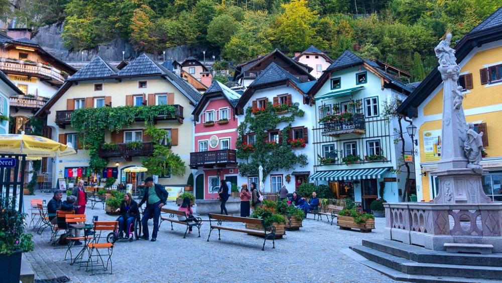 Main market square in Hallstatt