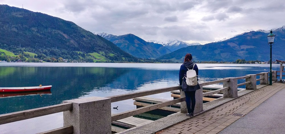 Me at Lake Zell against the Austrian Alps