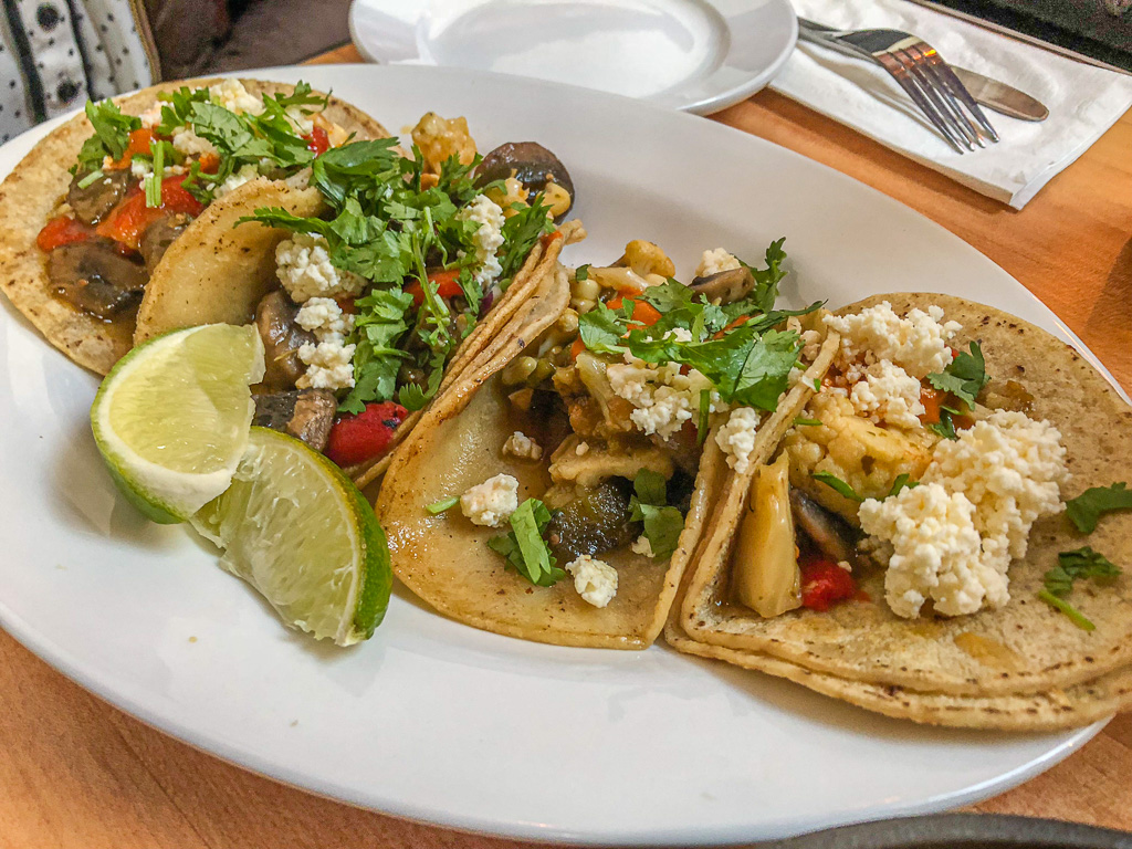 Vegetarian tacos in San Francisco